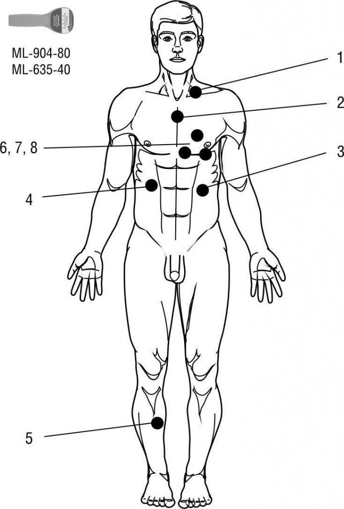 Зоны воздействия при атипичной пневмонии